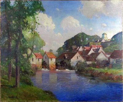 George Ames Aldrich, 'Summer Village on Blue Stream', ca. 1910