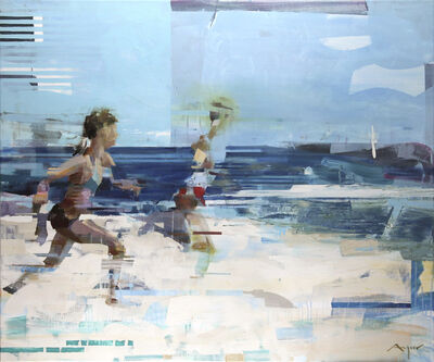 Michael Azgour, 'Running on the Shore', 2017