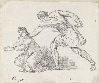 Jacques-Louis David, 'Warrior Seizing a Kneeling Figure', 1775/80