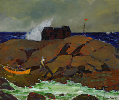 George Benjamin Luks, 'Poverty Hump, Maine', c. 1922