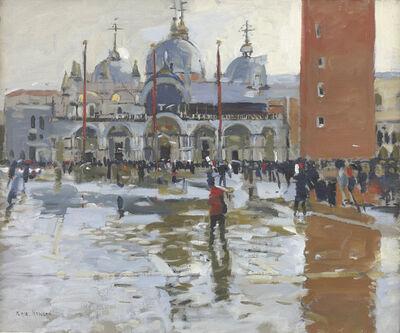 Ken Howard, 'Piazza San Marco, Rain Effect', 2018