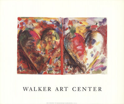 Jim Dine, 'Two Hearts for Pathways', 1989