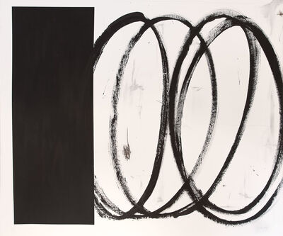 Briggs Edward Solomon, 'Black Square with Swirls', 2014