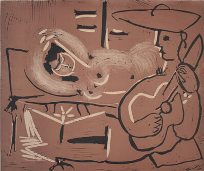 Pablo Picasso, 'Woman Reclining and Guitarist | Femme couchée et guitariste', 1959