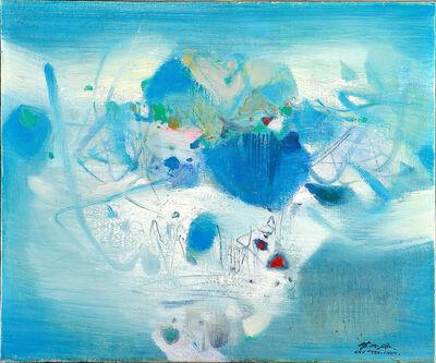 Chu Teh-Chun, 'Composition bleue', 1980