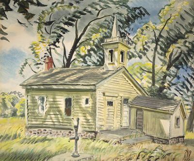 Charles Ephraim Burchfield, 'Country School House', 1948