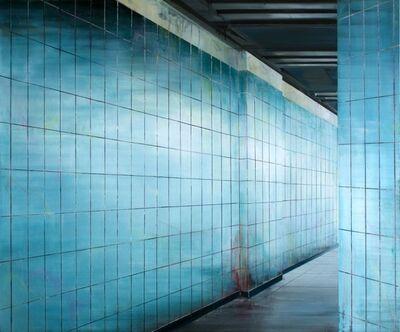 Driss Ouadahi, 'Cerulean tiles', 2016