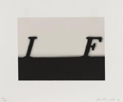 Ed Ruscha, 'If', 1991