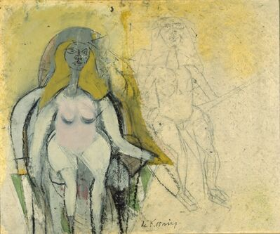Willem de Kooning, 'Seated Woman', 1950
