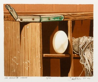 Joe Price, 'Fan with Feathers, Egg Series IV: String, Egg Series VII: Scale, and Egg Series III: Barbed Wire (four works)', 1984-90