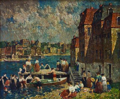 Robert Spencer, 'Afternoon Bathers', ca. 1920