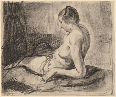 George Wesley Bellows, 'Nude Girl Reclining', 1919
