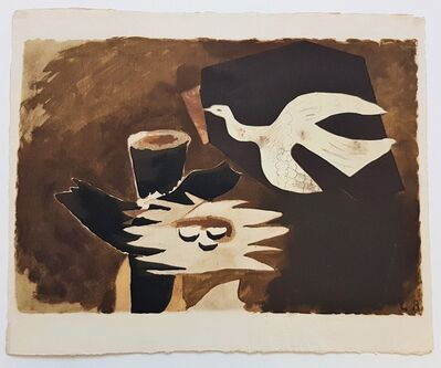 Georges Braque, 'L'oiseau de Feu from the Espace Portfolio', 1957