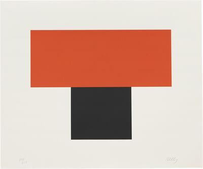 Ellsworth Kelly, 'Red-Orange over Black', 1970
