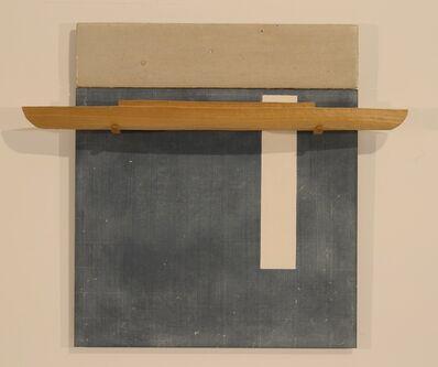 David Ruddell, 'Blackboard with White Stripe, Poplar Boat', 2010