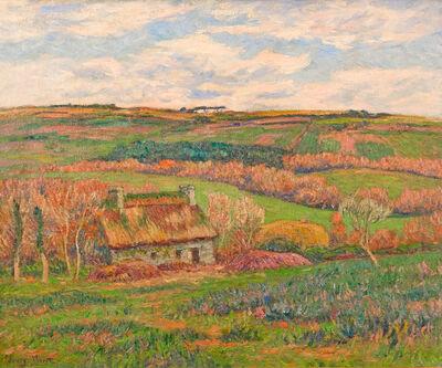 Henry Moret, 'Paysage à la Chaumière Bretonne', ca. 1910