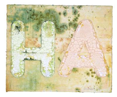 Mel Bochner, 'HA', 2014