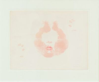 "Joyce Wieland, '""Lipstick – Facing North"" Lithograph', 1973"