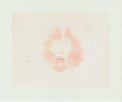 "Joyce Wieland, '""Lipstick – Facing North"" Lithograph', 1973"