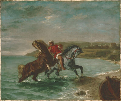 Eugène Delacroix, 'Horses Coming Out of the Sea', 1860