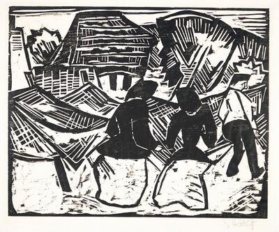 Karl Schmidt-Rottluff, 'Bei den Netzen (By the Nets)', 1915