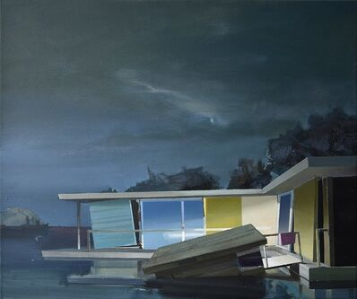 Ulf Puder, 'Flusslandschaft im Mondschein (River landscape with moonshine)', 2020