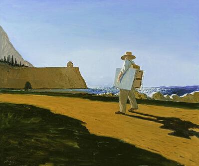 Julio Larraz, 'The Painter on the Road to Punta Agravox', 2020