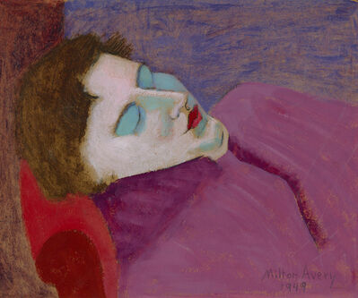 Milton Avery, 'Sleeping Sally', Dated 1949