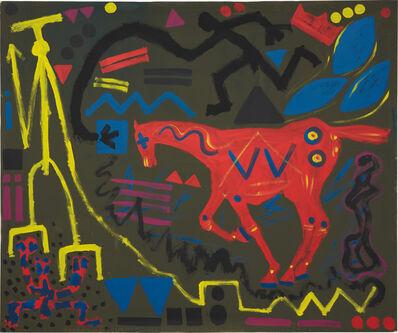 A.R. Penck, 'Horse Racing', 1983