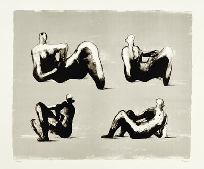 Henry Moore, 'Four Reclining Figures', 1974