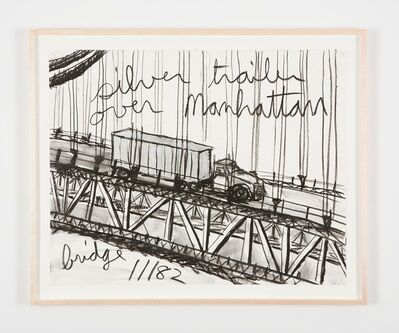 Kate Ericson and Mel Ziegler, 'Untitled (Silver trailer over Manhattan bridge)', 1982