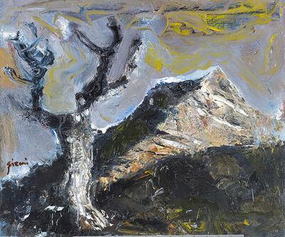 Mario Sironi, 'Montagna e albero noto come Paesaggio alpino', 1953 ca.
