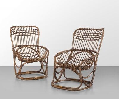 Tito Agnoli, 'A pair of 'BP 4' armchairs', 1963