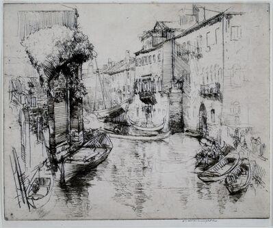 Donald Shaw MacLaughlan, 'The Boat Builders, Venice', 1910