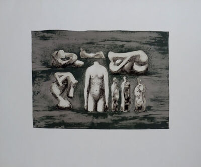 Henry Moore, 'Female Torso and Sculpture Ideas I', 1979