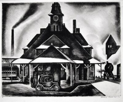 Howard N. Cook, 'The Station', 1928