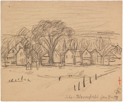 Oscar Bluemner, 'SOHO-BLOOMFIELD JAN 8-18', 1918