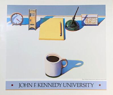 "Wayne Thiebaud, 'Wayne Thiebaud, ""Desktop with Cup"", John F. Kennedy University', 1988"