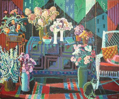 Joseph O'Sickey, 'Cat with Bouquets '