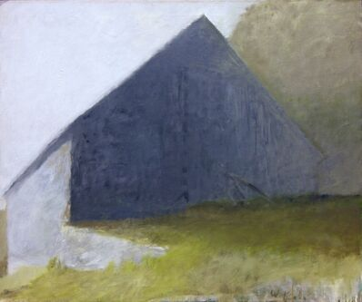 Wolf Kahn, 'Barn in a White Light', 1970-1971