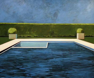 Melissa Chandon, 'Pool with Two Planters and Jacuzzi', 2020