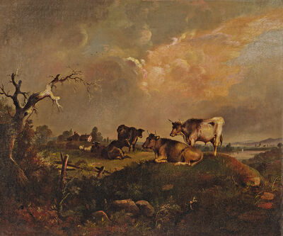 William Otis Bemis, 'Cattle at Pasture'