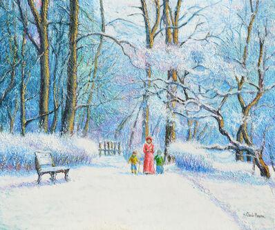 Hugues Claude Pissarro, 'Neige au bois Jôdin', ca. 1987