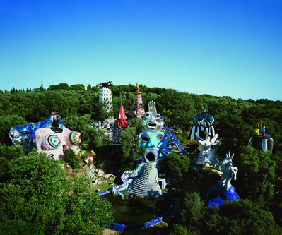 Niki de Saint Phalle & Jean Tinguely, 'Vue du Jardin des Tarots (View of the Tarots Gardens)'