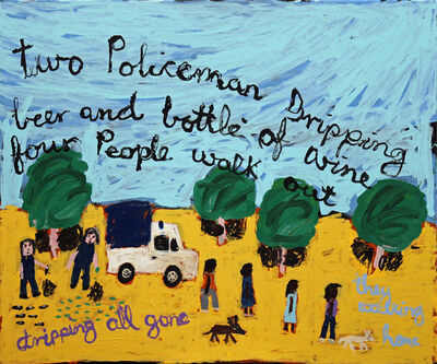 Sally M Nangala Mulda, 'Two Policeman Dripping Beer...', 2019
