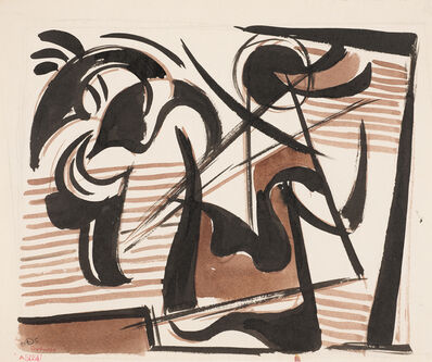 Werner Drewes, 'Study of Ancient Warrior #108 A165A', 1945