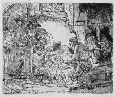 Rembrandt van Rijn, 'The Adoration of the Shepherds: with the Lamp', 1654