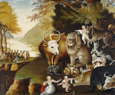 Edward Hicks, 'Peaceable Kingdom', ca. 1834