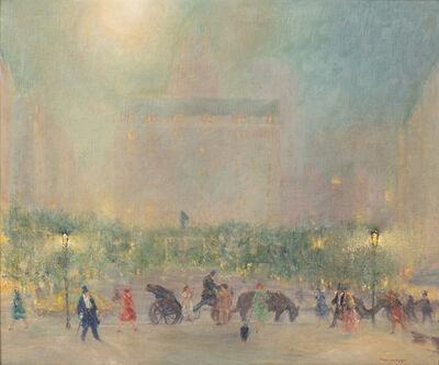 Johann Berthelsen, 'Summer Evening,The Plaza, New York City', 1948