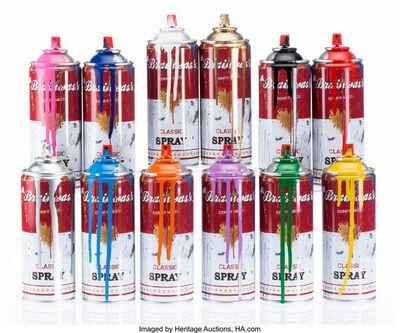 Mr. Brainwash, 'Spray Cans (Set of twelve)', 2013